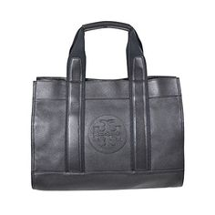 Tory Burch Leather Classic Tory Tote Bag - Black