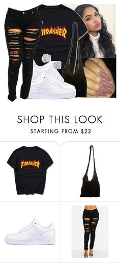 """""""💋#thrasher"""" by eazybreezy305 ❤ liked on Polyvore featuring Acne Studios, NIKE, Bloomingdale's, SimpleOutfits, DOPE and 2017"""