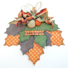 fall leaves, could become HOLLY leaves too for Christmas!!!