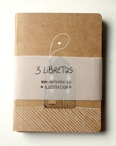 Hand painted notebooks by Nuria Diaz