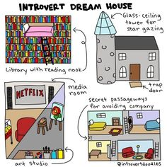 But there's also just a lot of fun stuff like this: | These Comics Perfectly Illustrate What It's Like Being An Introvert