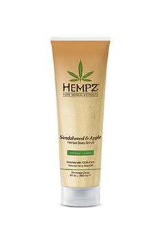 Sandalwood & Apple Herbal Body Scrub - HEMPZ Products - The Secret is in The Seed.