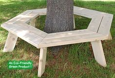 Around the Tree Bench - 36 inch diameter for larger, more mature trees.  I want this for our house!!!