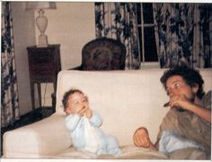 """song-and-dance-man: """" Bob Dylan playing the harmonica for his son Jakob, 1970 """""""