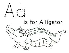 Letter A Alligator Coloring Pages Printable - Coloring For Kids 2019 Letter A Coloring Pages, Free Printable Coloring Pages, Alphabet Coloring, Learning English For Kids, Kids Learning, Learning Tools, Teaching Kids, Activity Sheets For Kids, Worksheets For Kids