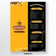 Creative Black Gold Coffee Menu Coffee Menu Food Menu Template Menu Restaurant