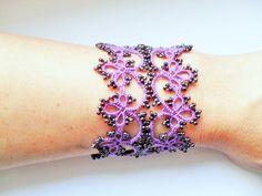 Tatting Frivolite Bracelet  Tatted Lace Bracelet by carmentatting