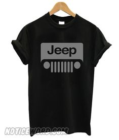 Jeep Wrangler Grey Logo Black smooth T-Shirt