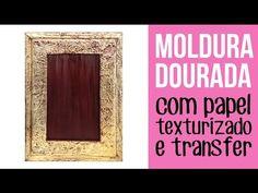 (31) Moldura texturizada dourada - YouTube