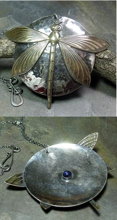 Large Dragonfly's Secret pendant   ...from LavenderCottage on Etsy