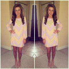 #preppy shift dress