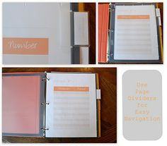 take out menu binder - free printables and instructions for constructing your own binder system