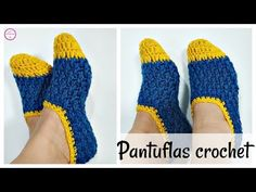 Crochet Slippers For Adults - Crochet Ideas Diy Crochet Slippers, Crochet Slipper Pattern, Crochet Baby Sandals, Crochet Shoes, Crochet Beanie, Love Crochet, Learn To Crochet, Easy Crochet, Crochet Patterns