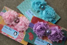 YOU CHOOSE Pastel Chic Chiffon Double Bloom by TaterTotsTrends, $10.50
