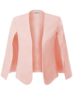 LE3NO Womens Open Front Cape Suit Blazer Jacket with Pockets, would love it in a different color