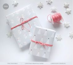 Free Printable: Geschenkpapier zum bequemen Ausdrucken zuhause | Kaddis Welt