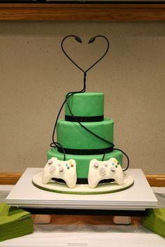 Wedding Cakes Wedding Cake designs and Wedding Cake Ideas - Cake Decorating Community - Cakes We Bake Creative Wedding Cakes, Amazing Wedding Cakes, Wedding Cake Designs, Amazing Cakes, Gamer Wedding Cake, Geek Wedding, Xbox Wedding, Fall Wedding, Wedding Cakes With Cupcakes