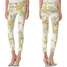 Love these paige pastel floral jeans... Now available at savvy. $195