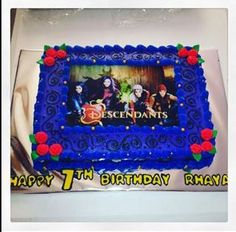 Disney Descendants Cake Evie