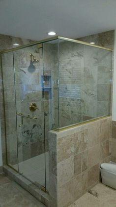 #framelessshowers #brittandtilson #glass #asheville #wnc #bathroom #remodel #custom