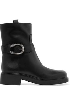 Gucci - Dionysus Leather Boots - Black - IT35.5