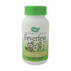 Nature's Way - Feverfew Leaves, 380 mg, 100 capsules by Nature's Way. $8.49. Feverfew helps maintain normal blood vessel tone.. Save 29% Off!