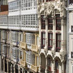 Illuminated Manuscript, Multi Story Building, Modernism, Wood Wall Paneling, Balconies, Paths, Buildings, Cities, Viajes