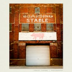 Color Photography - Fulton Market - Wall Art, Urban Chicago - The Stables - Etsy wall art, Chicago meat packing. $30.00, via Etsy.