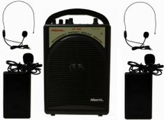 Hisonic HS122B-L2 40-Watt Rechargeable & Portable PA System with Built-in Dual Wireless Microphones, BLACK by Hisonic. $199.99. The Hisonic HS122B seamlessly combines a powerful 40 watts (maximum output power) speaker & a dual VHF wireless microphone system into one portable PA system. It has everything you need for your sound amplification applications. No assembly required! No extra equipment to purchase! Open the box, turn on the switch, put batteries in the...
