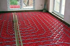 Radiant floor heat works on the principle of thermal radiation. This is explained scientifically by the fact that electromagnetic radiation is emitted from the surface of a heated object. Greenhouse Kitchen, Heating A Greenhouse, Cheap Greenhouse, Backyard Greenhouse, Homemade Greenhouse, Greenhouse Ideas, Radient Floor Heating, Greenhouse Interiors, Radiant Floor