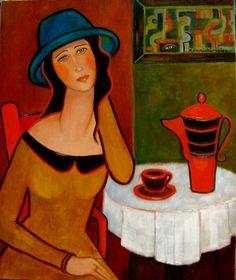 Painting Taka jedna na Słowacji - Artist Krystyna Ruminkiewicz