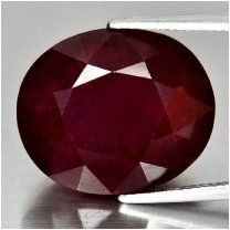 Red ruby gem  32,66 ct. ОВАЛ ПУРПУРНО КРАСНЫЙ НАТУРАЛЬНЫЙ РУБИН, ВИДЕО Драгоценные камни (россыпь).
