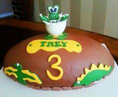 Baby Dino Birthday Cake..  Too Sweeties Bake Shoppe