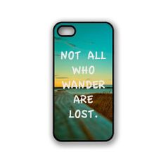 Not All Who Wander Are Lost Quote iPhone 5c Case Fits iPhone 5c -Designer TPU Case Verizon AT&T Sprint - [ Pre ORDER - Ships Sept 25 ] on Etsy, $12.98