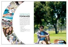 The Opening Page, it talks about how people plan to accomplish their goals for this year. Yearbook Design Layout, Page Layout Design, Yearbook Layouts, Magazine Layout Design, Graphic Design Layouts, Yearbook Ideas, Magazine Layouts, Design Design, Yearbook Mods