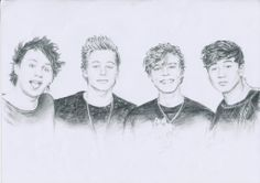 Awesome drawing of 5SOS how do they do it!? How is it possible?!