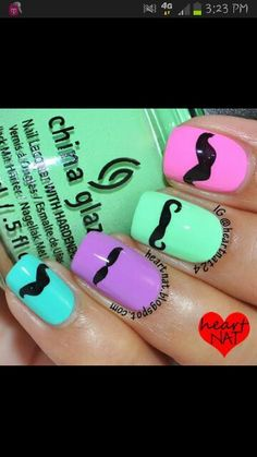 Mustaches & Nail polish. It's a Pintacular Collaboration.