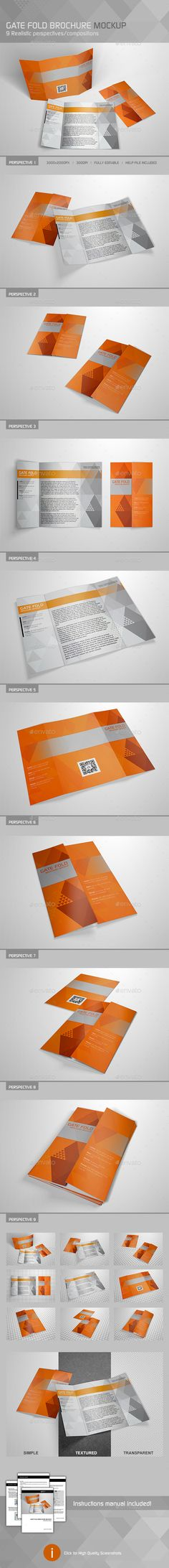 Square Gate Fold Brochure Mockup  Mockup Brochures And Booklet