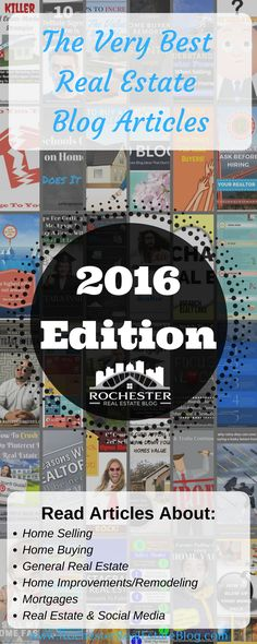 The Very Best Real Estate Blog Articles - 2016 Edition - http://www.rochesterrealestateblog.com/best-real-estate-blog-articles-2016/ via @KyleHiscockRE