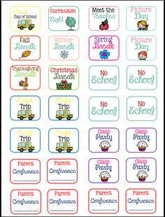 FREE Back to School planner stickers!