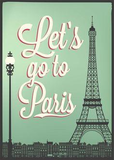 Let's go to Paris Vintage Art from $49.99 | http://www.wallartprints.com.au/ #VintagePictures #WallArtPrints
