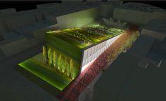 urbanarbolismo, auditorium, eco design, green design, green roof, living roof…