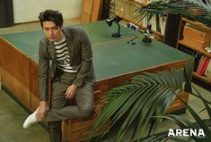 Hyun Bin Covers April 2018 Arena Homme Plus Daddy Long, Male Style, Hyun Bin, My Crush, Long Legs, Kimchi, Korean Actors, Check It Out, First Love