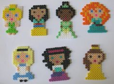 Disney Princess Perler beads. made these wheb i was little so fun we loved them just buy the beads at the craft store