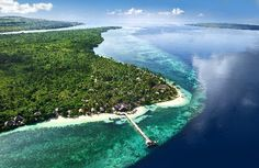 Wakatobi Dive Resort. Known among divers as one of the world's best dive sites. Fly to Bali and then 2.5hr private flight to resort's flight path.