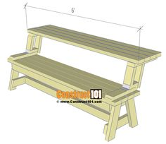 Folding Picnic Table Plans - Easy To Build Projects - table ideas outdoor Folding Picnic Table Plans - Easy To Build Projects - Wood Bench Plans, Garden Bench Plans, Woodworking Bench Plans, Folding Picnic Table Plans, Diy Picnic Table, Backyard Chairs, Patio Gazebo, Porch Swing, Wood Shop Projects