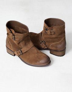 BIKER LEATHER ANKLE BOOTS - Women's footwear - WOMAN - United Kingdom