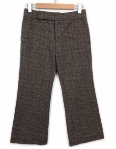 ff7ce1a772a Marni Check Print Pants Size 38 S Brown Beige Woven Cotton Crop Work Womens   fashion