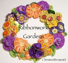 Ribbonwork Gardens Lecture by Christen Brown.  Silk ribbon embroidery.