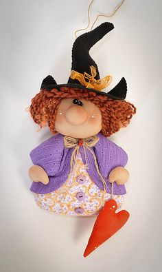 Witch of Love Halloween Coffin, Halloween Doll, Halloween Ornaments, Halloween Signs, Spooky Halloween, Halloween Crafts, Happy Halloween, Halloween Decorations, Mascaras Halloween